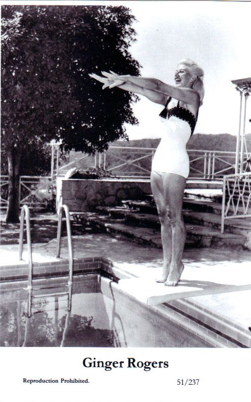 Ginger Rogers Anyone Ready For Some Diving And Swimming Laps Vintage Pool Parties Ginger Rogers A Fine Romance