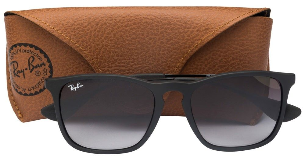 cd346c42e8c Ray-Ban RB4187 Size 54 Matte Black Grey Gradient 622 8G Wayfarer Sunglasses