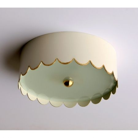 the scalloped flush mount for the home lighting light fixtures rh pinterest com
