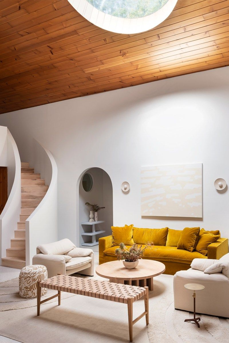 5 Times Round Skylights Helped Feature A Home S Best Angles Small Apartment Decorating Living Room Minimalist Living Room Decor Minimalist Living Room #warm #minimalist #living #room