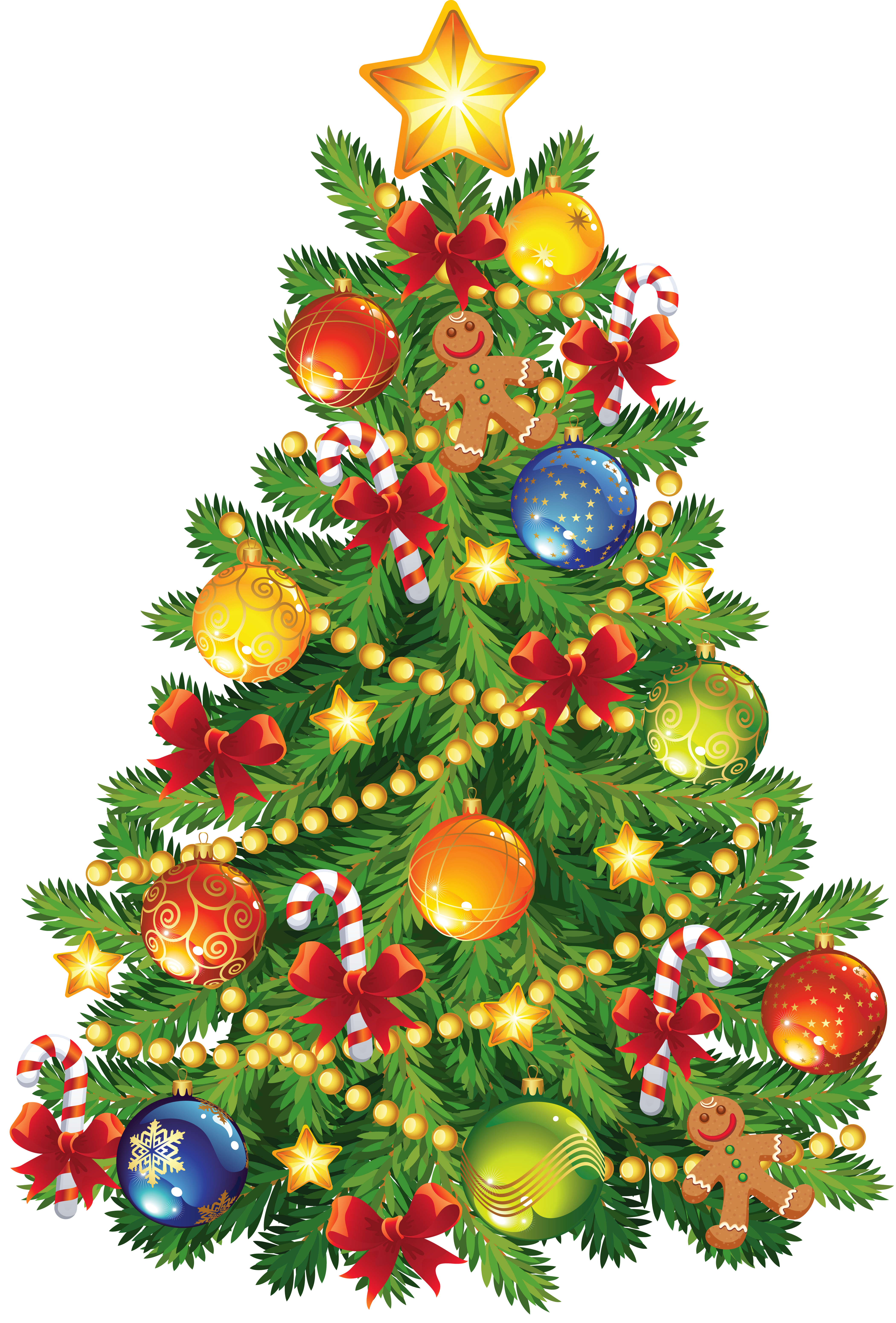 Large Transparent Christmas Tree With Gingerbread Ornament Clipart Christmas Drawing Christmas Tree Images Christmas Art