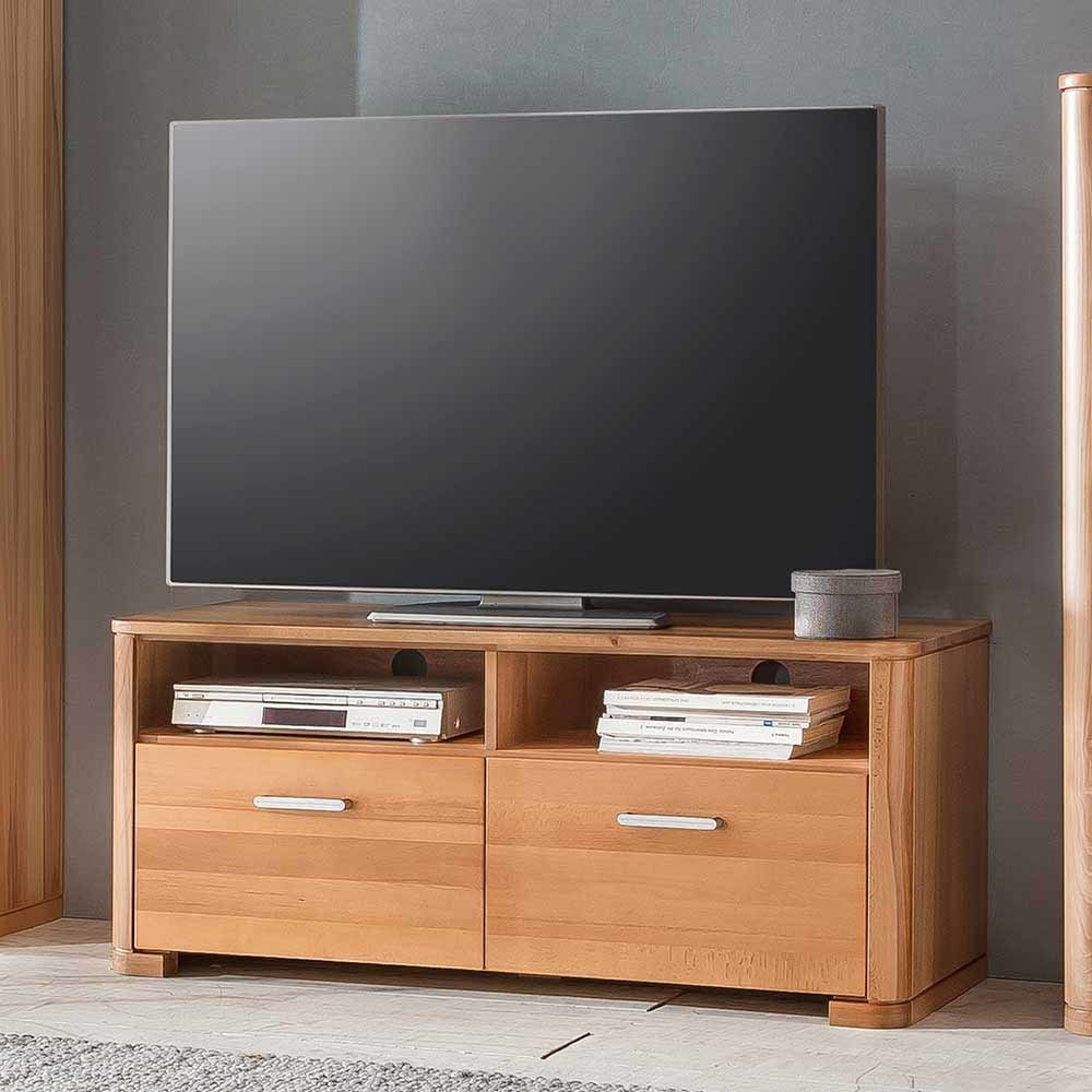 tv unterschrank aus kernbuche lackiert 120 cm jetzt. Black Bedroom Furniture Sets. Home Design Ideas