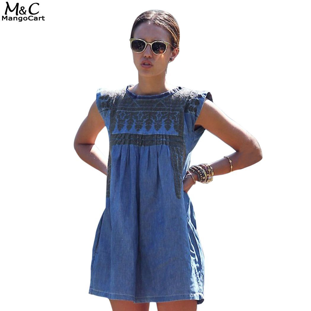 a324d5e3d23 ... Buy Quality dress german directly from China dress up girls dresses  Suppliers  Product Specifications Women Fashion Casual Print Sleeveless  Summer Denim