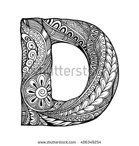 Zentangle Stylized Alphabet