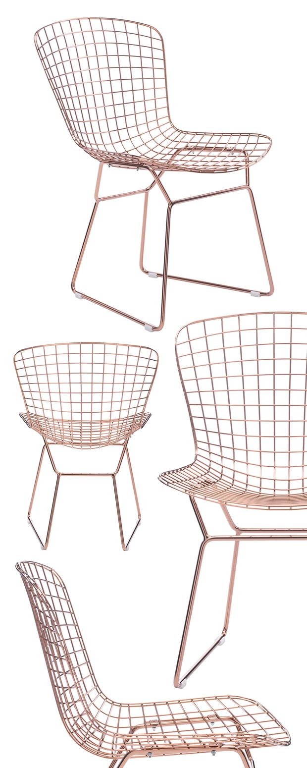 Cheers! We'll toast to this chic, all-metal Rosé Dining Chair! Made with sturdy chromed…