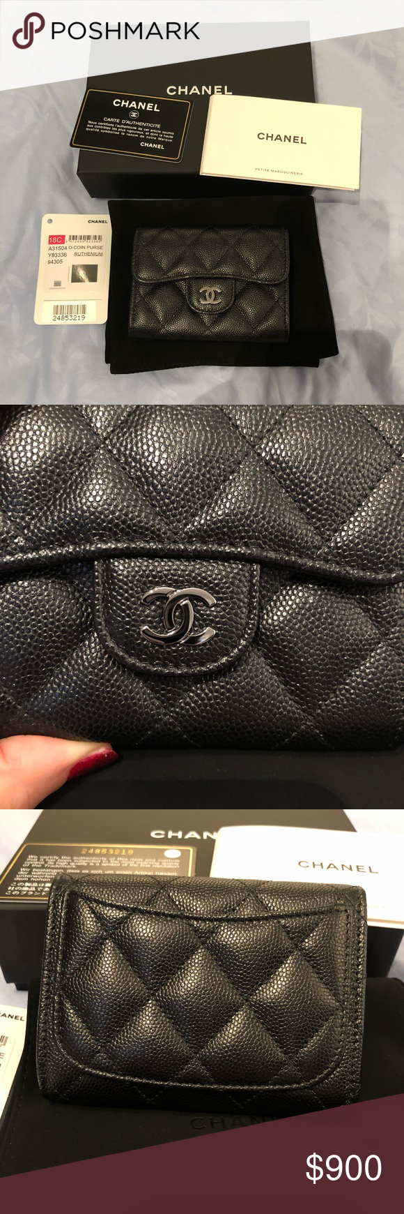 a492ee32 Chanel XL caviar snap cardholder new in box 18C New never used ...