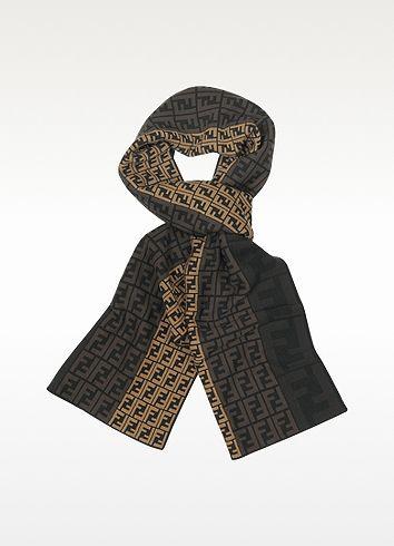 ecfd17d30f6 Fendi Zucca Logo Wool Scarf  240.00 Actual transaction amount