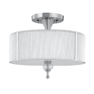 World Imports Bayonne Collection 3 Light Semi Flush Mount Brushed Nickel Ceiling Fixture 8273 37 Luminaire Chambre Plafonnier Encastre Luminaire Plafond