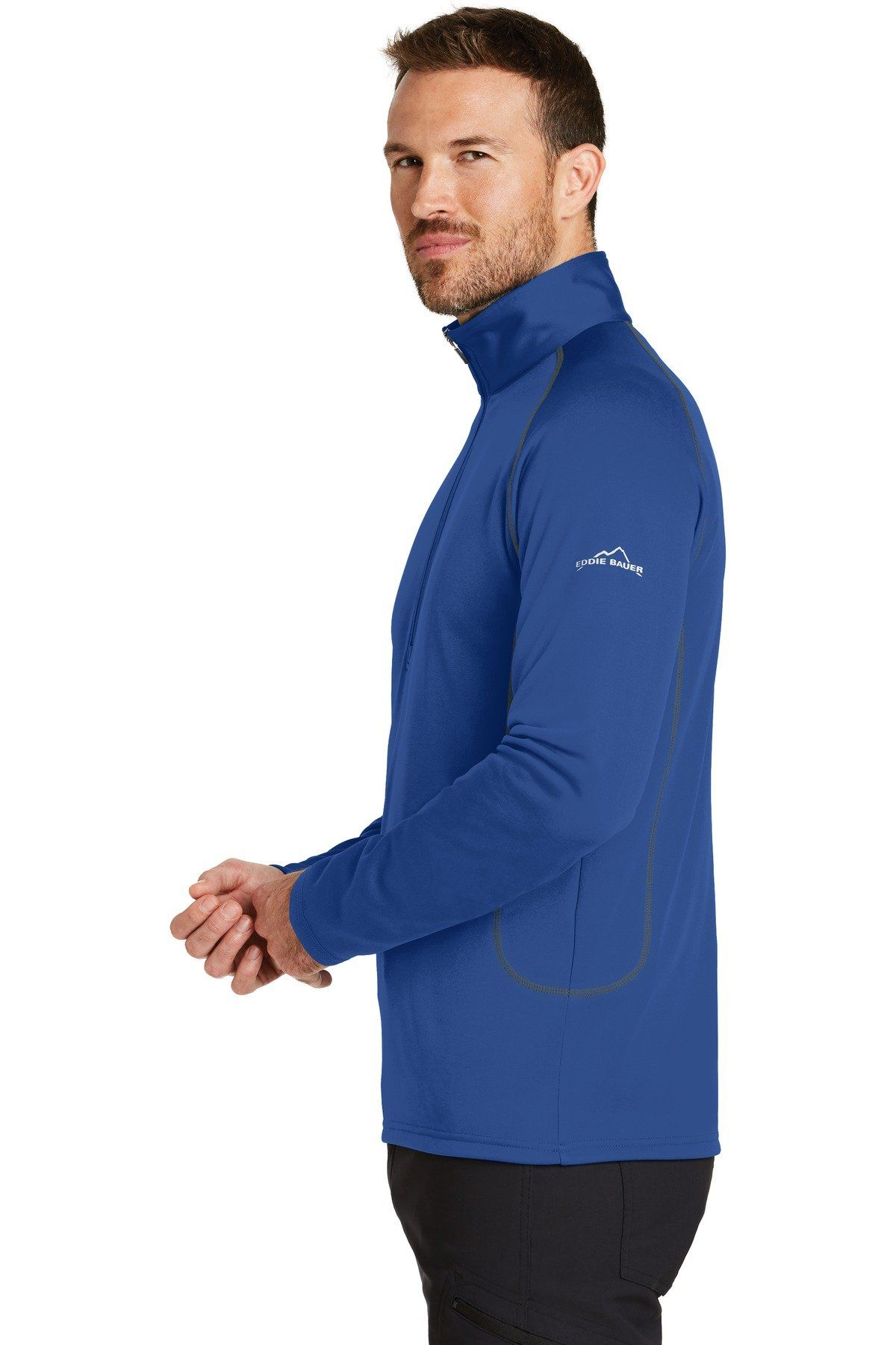Edbauer 1 2 Zip Base Layer Fleece Eb236 Cobalt Blue