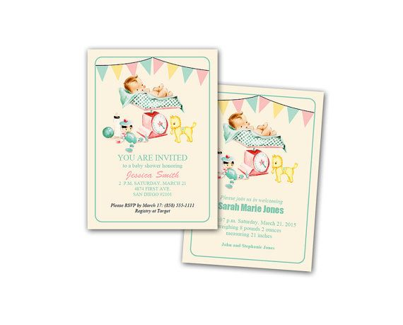Digital Diy Vintage Baby Shower Invitation By Kbandfriends