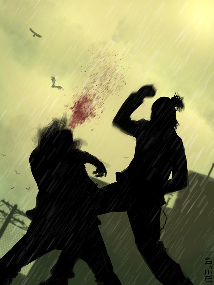 Genji vs Serizawa CROWS ZERO by JoelAmatGuell.deviantart