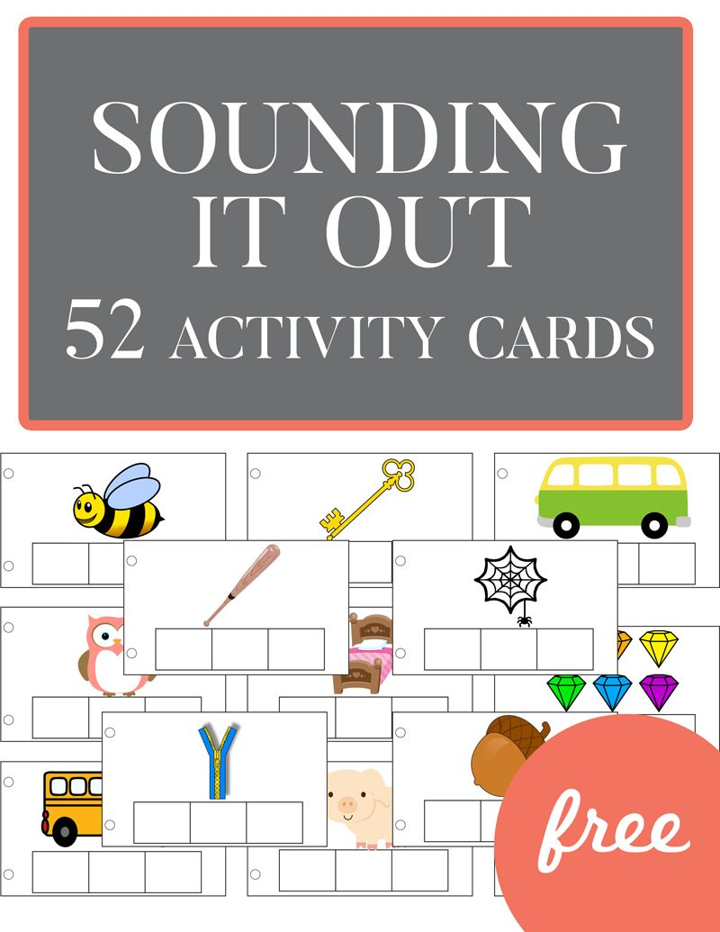 Sounding It Out - 52 FREE Activity Cards | Pinterest | Free ...