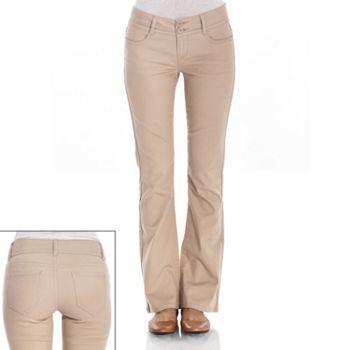 Wallflower curvy bootcut khaki pants #Kohls - any Khaki pants will ...