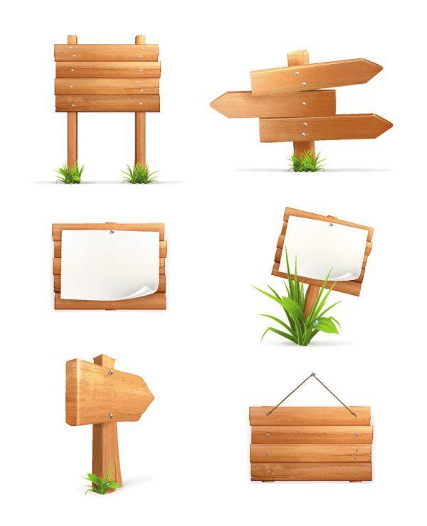 木板指示牌04—矢量素材-生活-矢量
