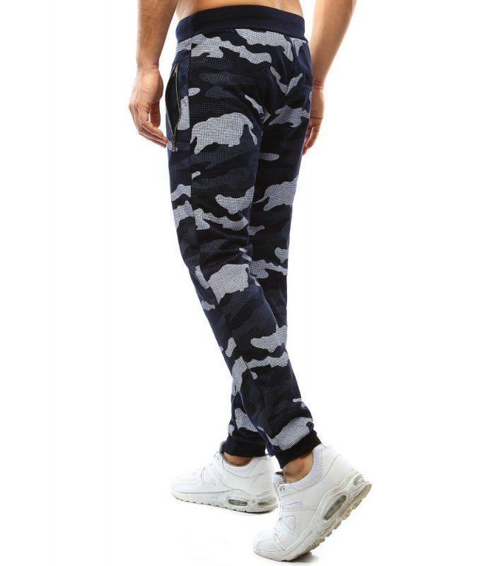 2a686a74e0fc Pánske maskáčové tmavomodré nohavice