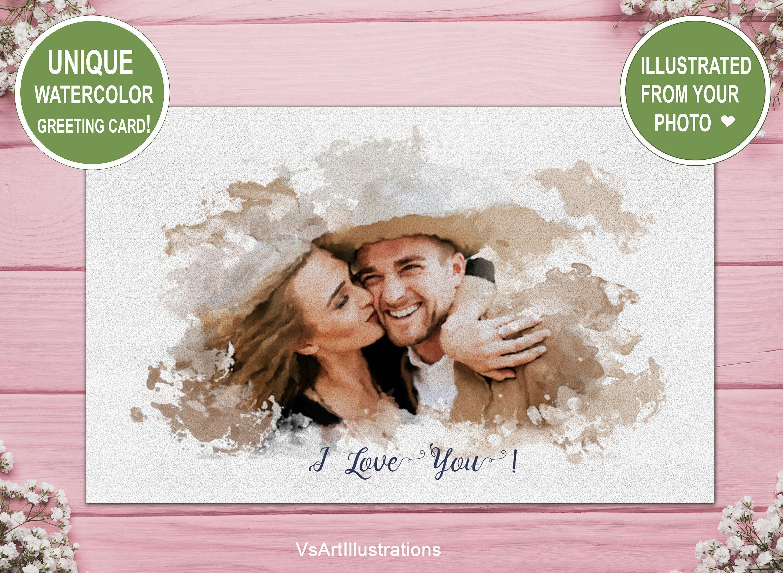 Custom anniversary card for boyfriend birthday i love you
