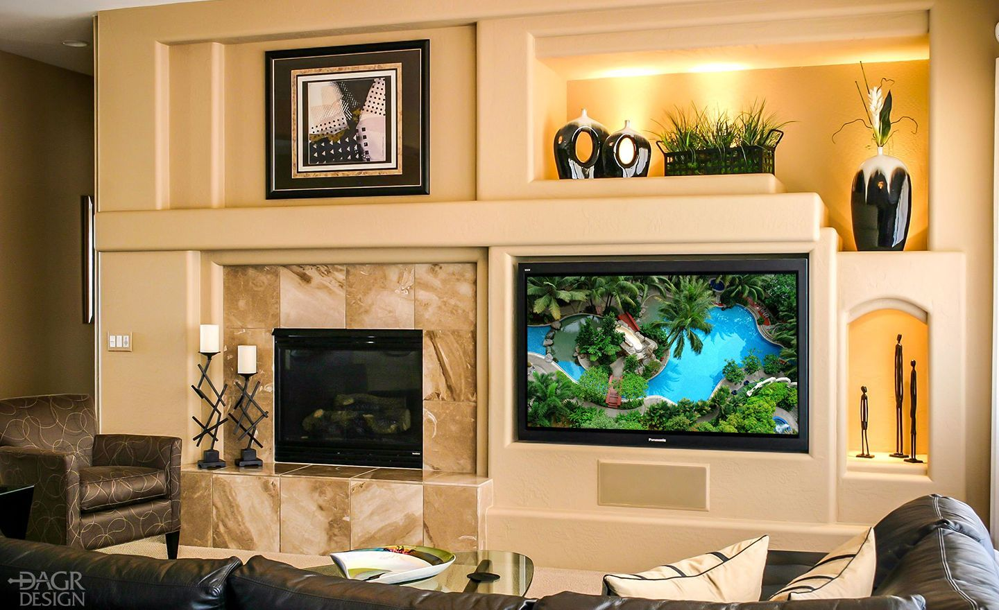 Magnificent Media Wall Ideas Pictures - The Wall Art Decorations ...