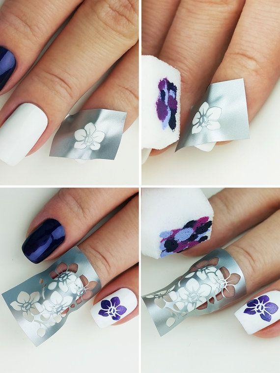Orchids Nail Art Stencils - incredible nail art vinyls by Unail ...