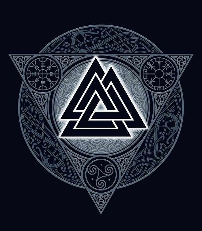 Valknut Ice Flame Cool Tats Pinterest Wikinger Tattoos