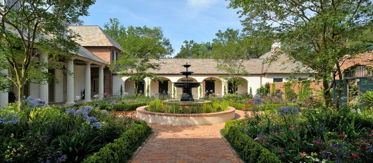 The Entrance Courtyard of a CreoleStyle House in Houston