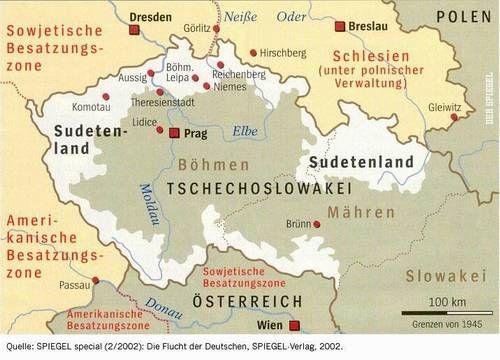 Das Sudetenland 1938 Schlesien Breslau Passau