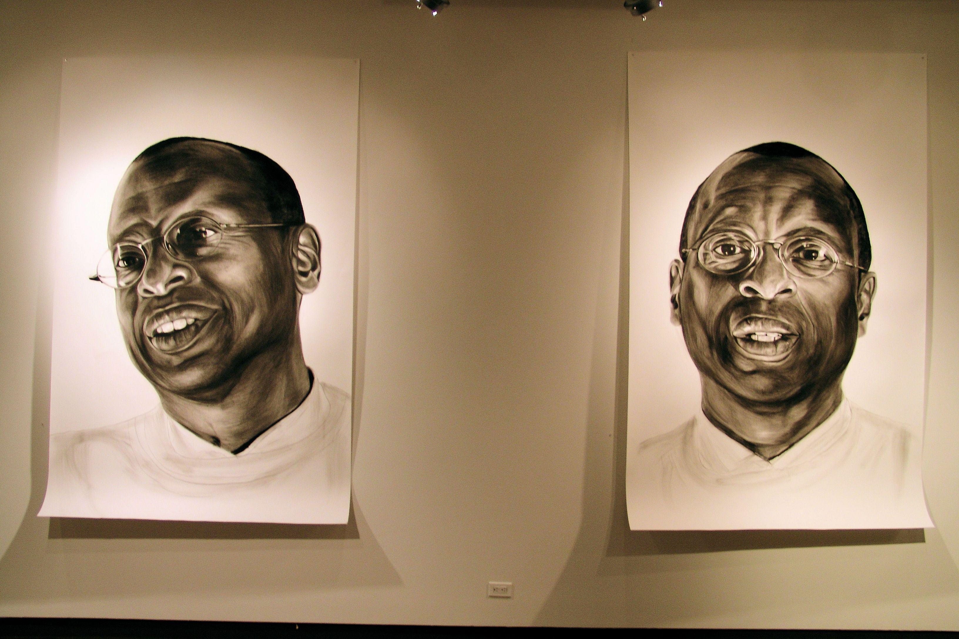 Ethelbert (Big Heads), SVA Fine Arts Gallery, NYC, 2006 by Pete Petrine