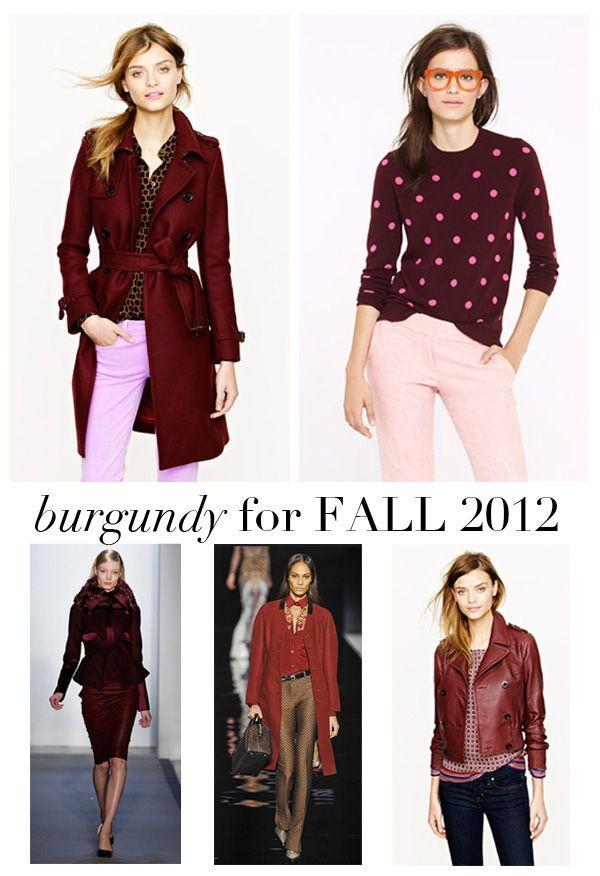 fall burgundy 2012