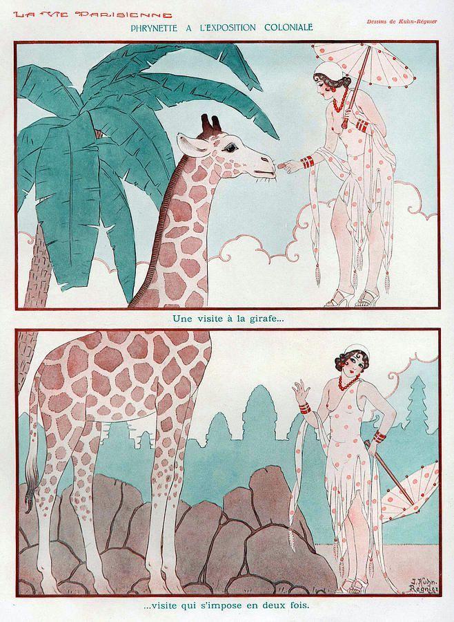La Vie Parisienne 1931 Illustration by Joseph Kuhn Regnier
