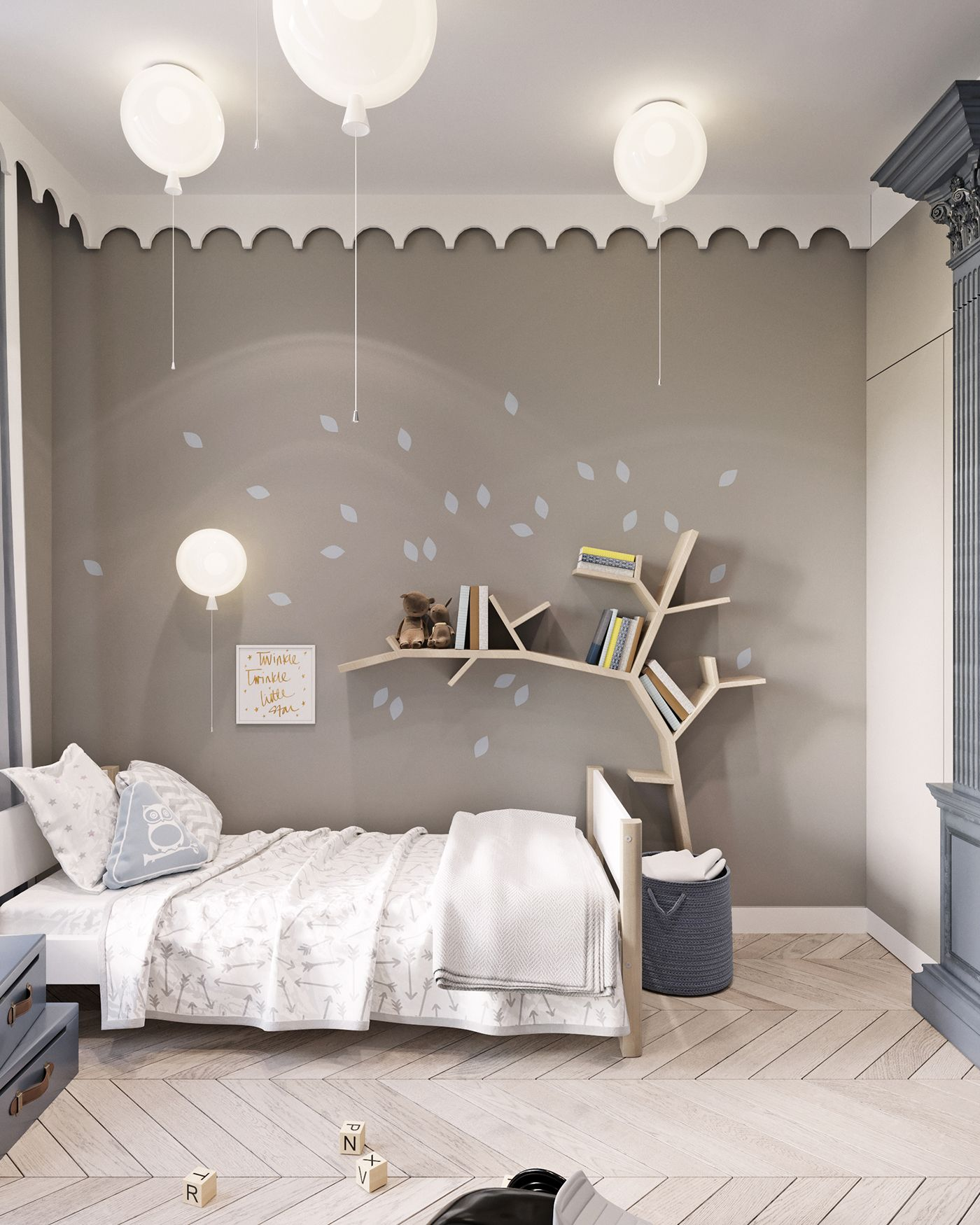 TRUFFLE FLAT  in Granville apartments is part of Modern kids bedroom -