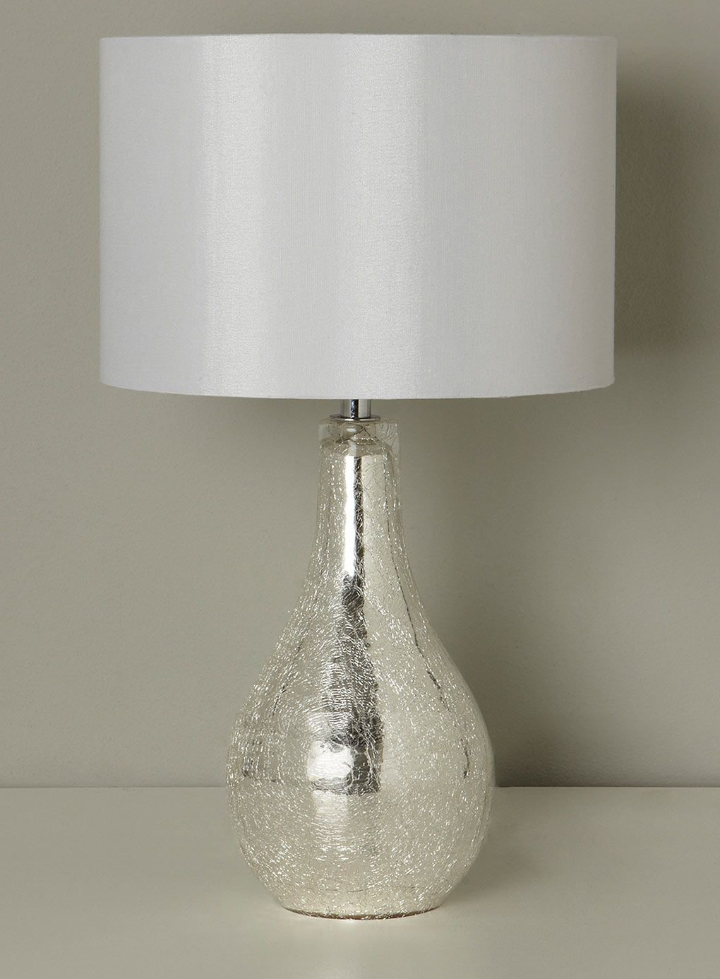 Sabrina Small Mirrored Crackle Table Lamp Bhs Lamp Table Lamp