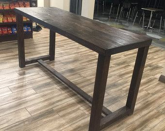 Reclaimed Wood Bar Restaurant Counter Community Rustic Espresso Kitchen  Coffee Conference Office Meeting Table Tables Hightop