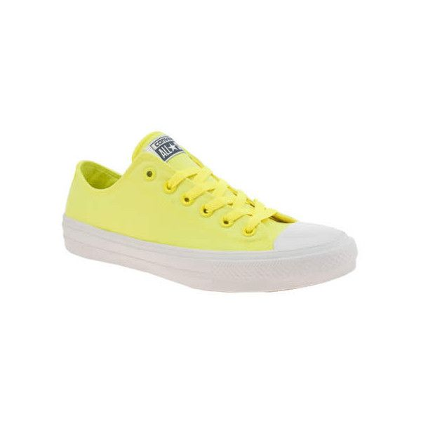 abdcea9bdc7 Converse Yellow Chuck Taylor All Star Ii Neon Trainers ( 71) ❤ liked on  Polyvore