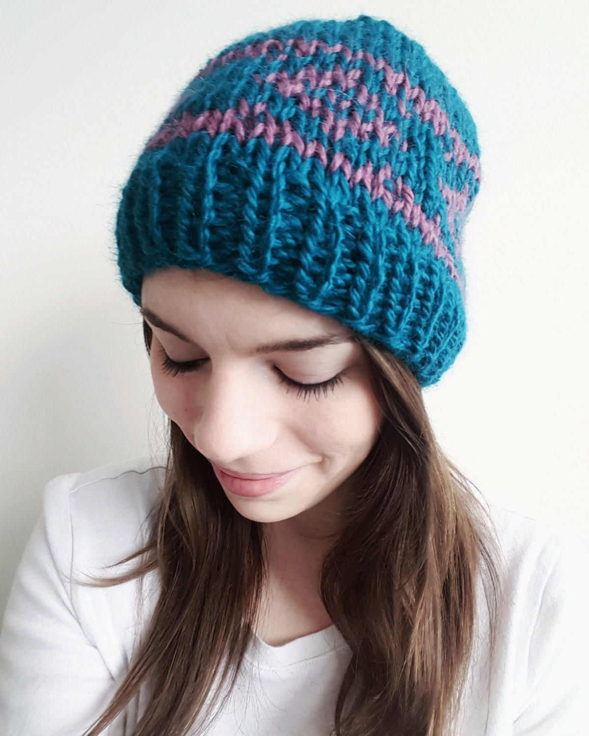 Learn to knit this beautiful fair isle beanie with this pattern PDF ...