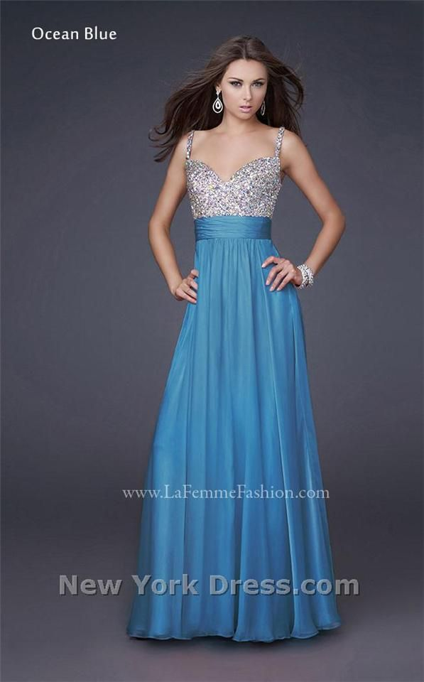 La Femme 16802 Fitted Bodice Overlays And Fantasy Dress