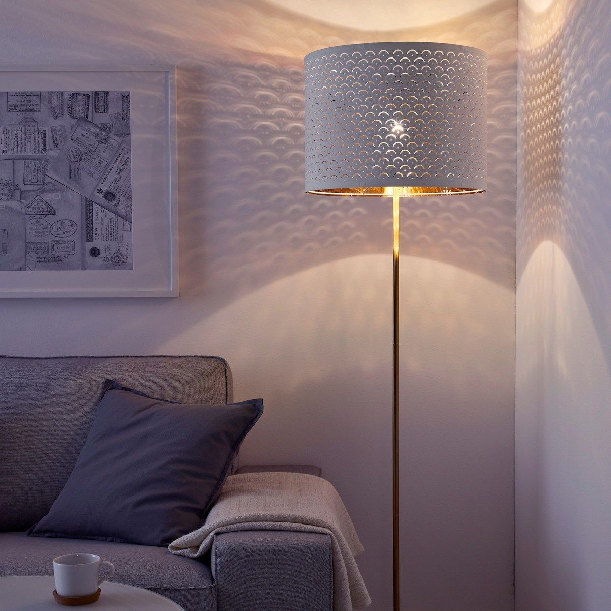 Ikea\'s Beautiful Nymö Lamp Shade | Target floor lamps and Floor lamp