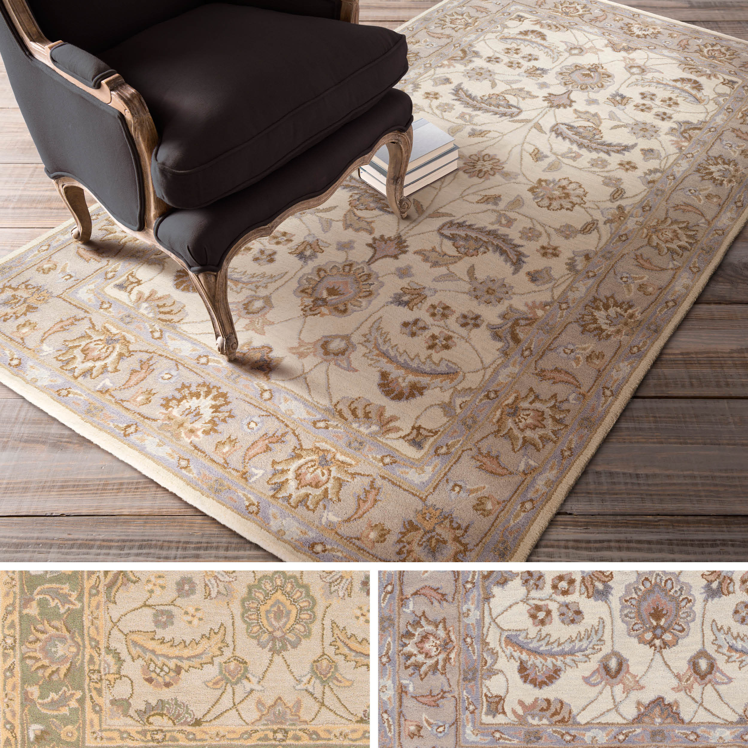 Hand Tufted Tiana Traditional Wool Rug 76 X 96