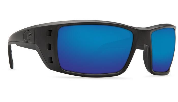 Costa Del Mar Permit 580G Blackout/Blue Mirror Polarized Sunglasses