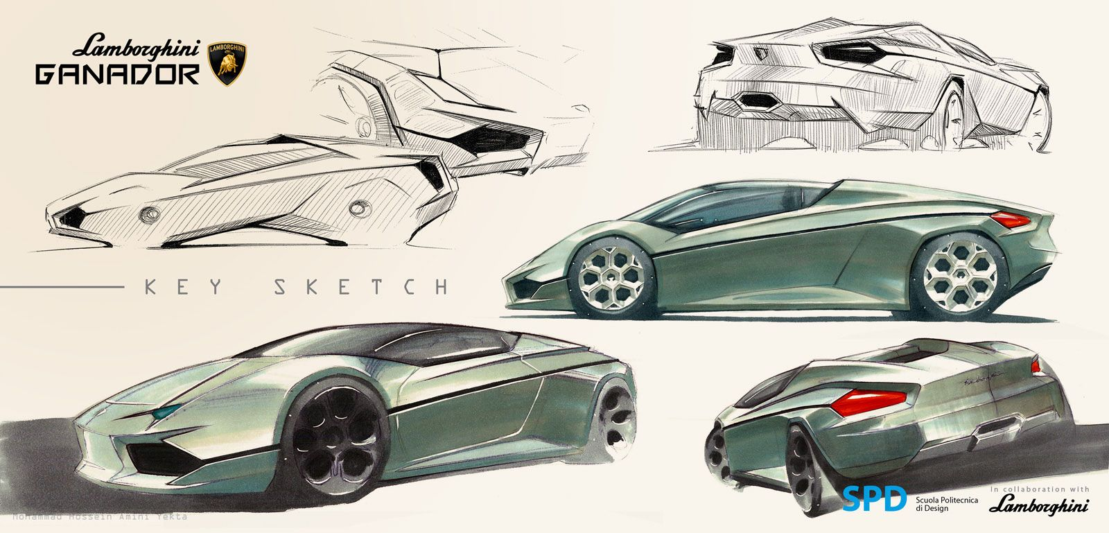 Lamborghini Ganador Concept Design Sketch Supercar Design Concept Cars Concept Car Sketch