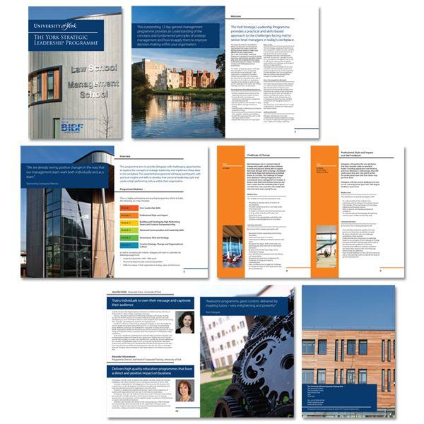 Brochure design for York University - designed by Kelle, York Print Company.