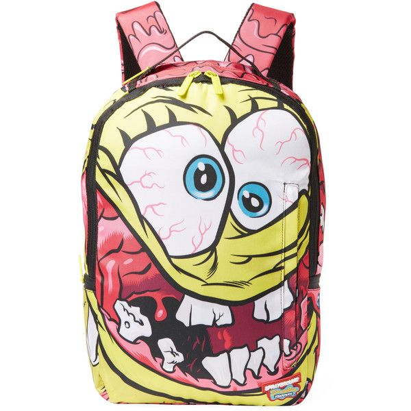 8b581afd2f6 Sprayground Spongebob Crazypants Backpack - Yellow ( 45) ❤ liked on  Polyvore featuring men s fashion
