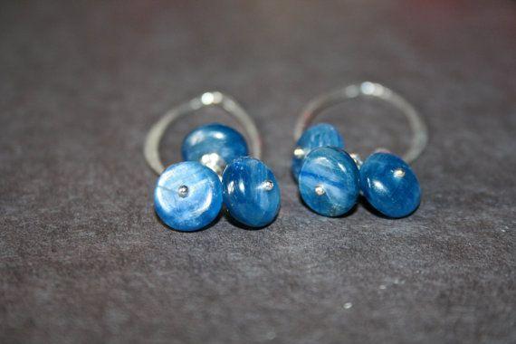 20 off Blue Kyanite Rondelle Earrings in Sterling by getawaygirl, $48.00