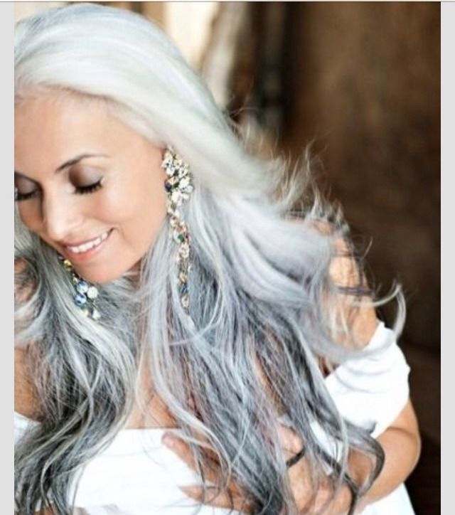 Reverse Ombre Hair Styles Grey Hair The New Blonde Long Hair Styles Hair Styles Silver Hair