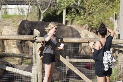Vanessa Hudgens and Ashley Benson spend the day at Busch Gardens theme park, Tampa, Florida