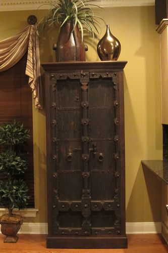 This Old Door Indian Cabinet From Discoveries In The Baton Rouge Home Of Lisa Warm Www Discoveriesla
