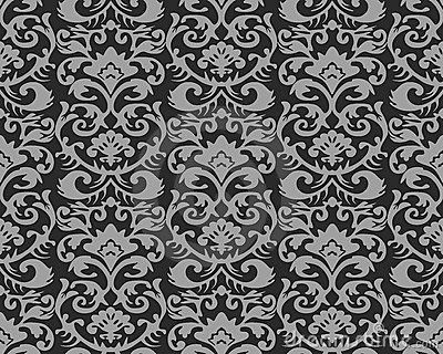 Seamless vintage wallpaper pattern royalty free stock photos