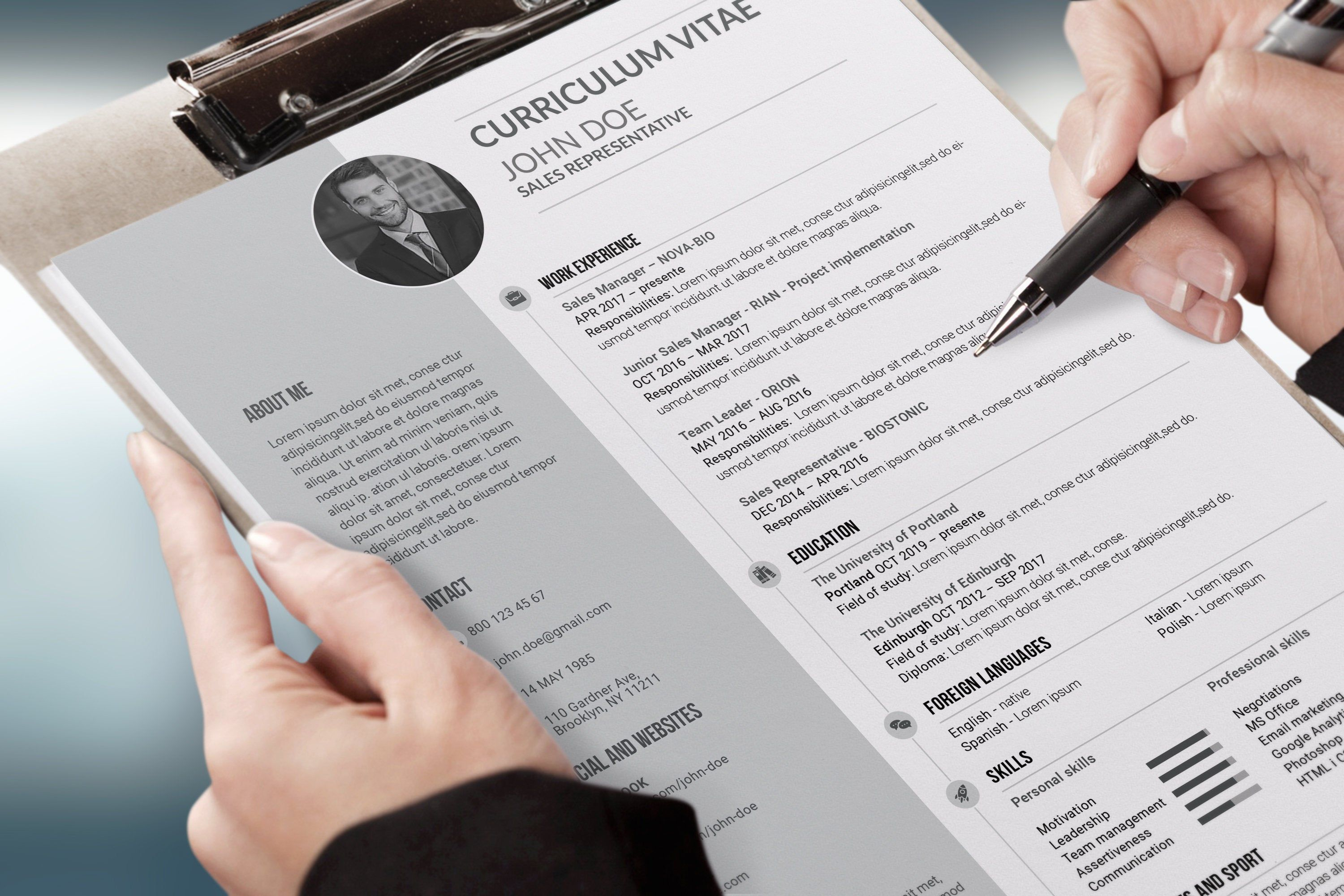 We make your Cv, Resume, CV, Cover Letter, Curriculum