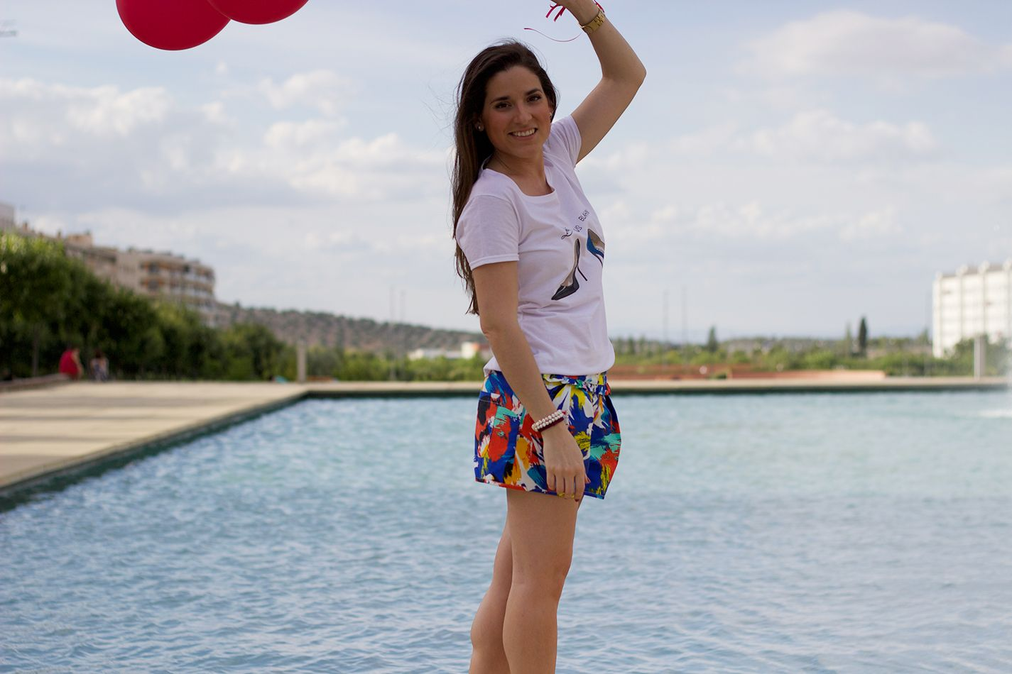 T-shirt RnL, Short Zara, Espandriles GO.