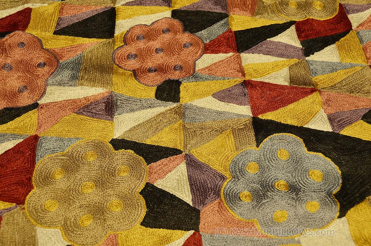 klimt-rugs-art-nouveau-yellow-gold-abstract-wall-hangings-accent ...