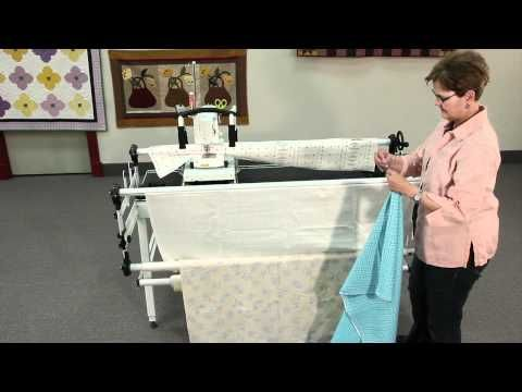 attaching fabric to a metal Grace Quilting Frame   QUILTS QUILTS ...