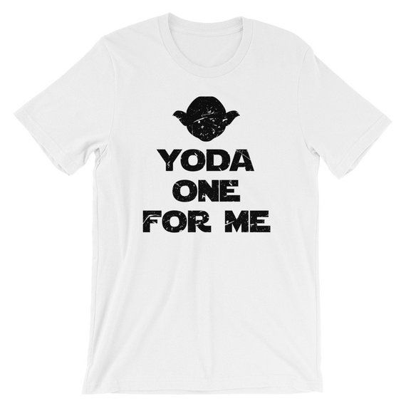 3633bbc3c7 Yoda One For Me T-Shirt, Funny Star Wars T Shirt, Valentines Day T Shirt,  Funny Valentine Gift, Gift